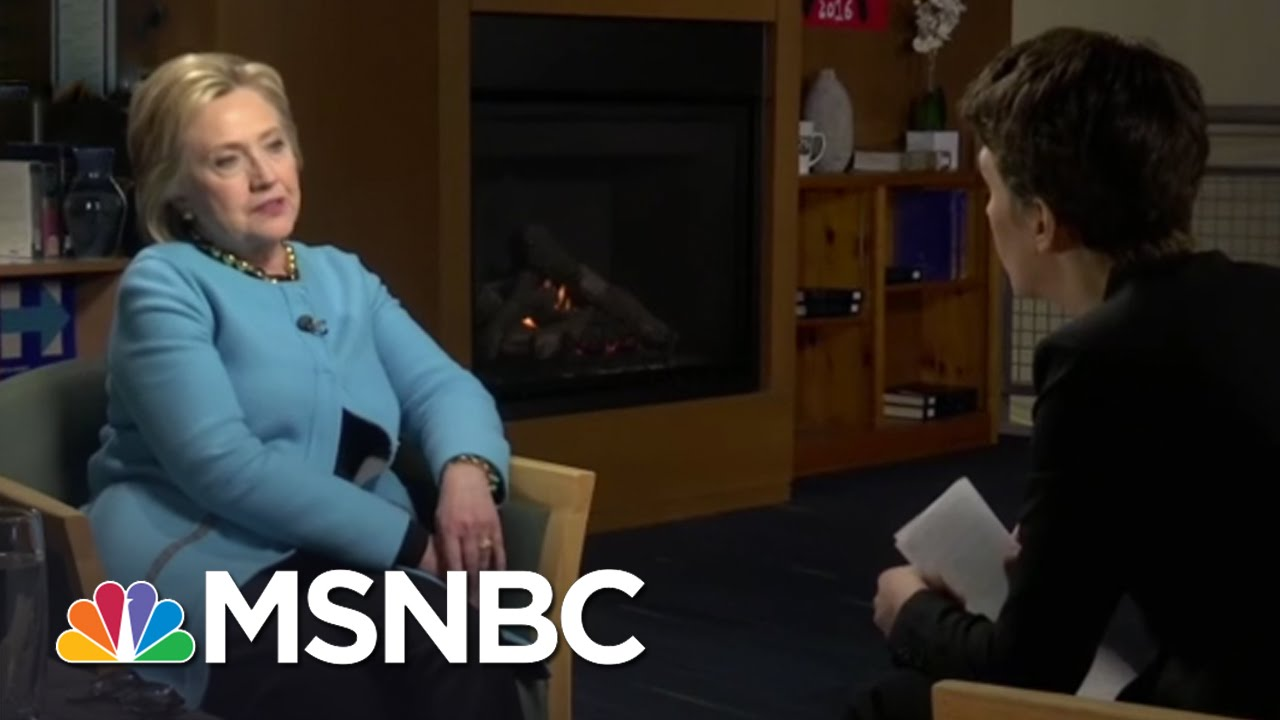 Hillary Clinton: GOP Attackers Are Afraid Of Me | Rachel Maddow | MSNBC thumbnail