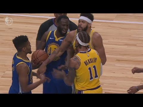 Michael Beasley, Lance Stephenson Ejected Lakers vs Warriors Preseason! 2018 NBA