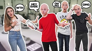 SHAVING MY HEAD BALD To See How My GIRLFRIEND REACTS **We Broke Up??** 👨🦲👨🦲 Lev Cameron