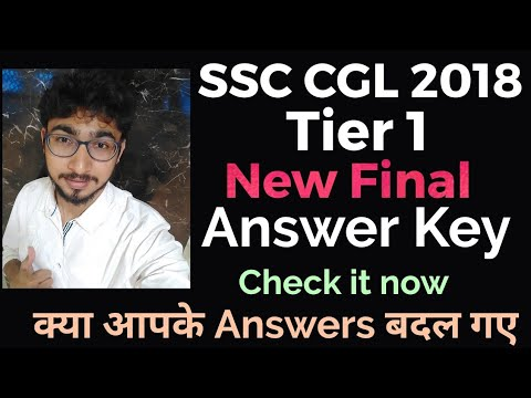 SSC CGL 2018 | Tier II final Answer key