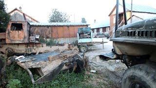 ТТ-4 сварка трубы и краска кабины Урал лесовоз