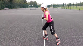 How to stop on rollerblades using the Hockey Stop or Parallel Slide.