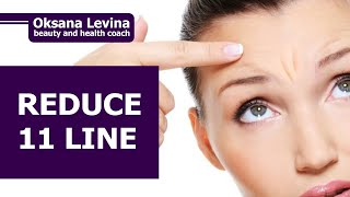 REDUCE WRINKLES BETWEEN EYEBROWS. How To Get Rid Of 11 Lines. Anatomy of the face muscles