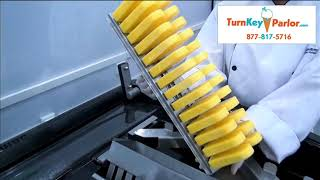 Robopop 2 - Industrial Popsicle Machine Freezing & Unmolding ice pops - TurnKeyParlor.com