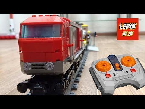 ГРУЗОВОЙ ПОЕЗД LEGO / LEPIN - ПОЛНЫЙ ОБЗОР ЖЕЛЕЗНОЙ ДОРОГИ - ДЕШЁВЫЙ АНАЛОГ LEGO ПОЕЗД