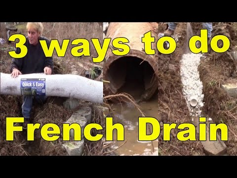 French Drain, How it works with 3 different materiels mp3 yukle - mp3.DINAMIK.az