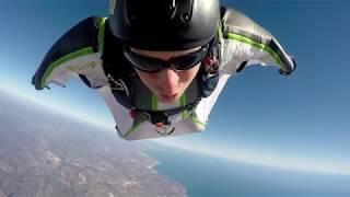Squirrel Aura wingsuit flying over the Algarve - Skydive Seven.