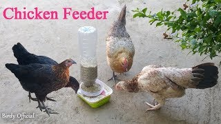 Chicken Feeder New Idea - How To Make Automatic Chicken Feeder - Plastic Bottle Recycling Idea