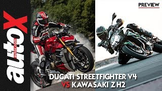 Ducati Streetfighter V4 vs Kawasaki Z H2: How do these hypernakeds compare