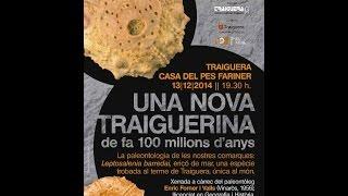 preview picture of video 'XERRADA UNA NOVA TRAIGUERINA DE FA 100 MILIONS D'ANYS'