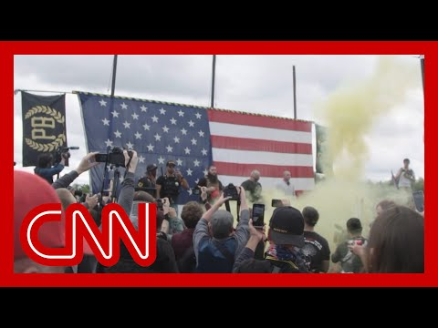 Watch what happened when CNN reporter went to Proud Boys rally