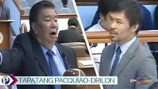 SAGUTAN ni Frank Drilon at Manny Pacquiao sa Senate Hearing