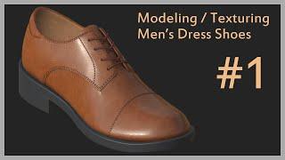 [Modeling] Modeling/Texturing Mens Dress Shoes # 01, Maya, 신사화, 구두