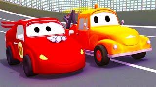 Çekici Tom ve onun arkadaşı Araba Şehri'nde | Araba ve Kamyon inşaat çizgi filmi çocuklar için