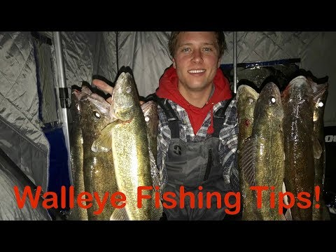 Walleye Ice Fishing Tips, Saginaw Bay