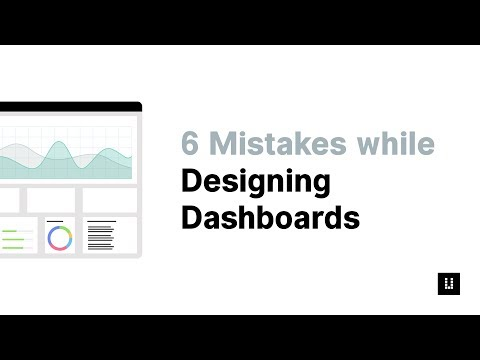 6 UX Design Mistakes While Designing a Dashboard