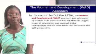 UGRC 231: SESSION 2 - The WID, WAD, GAD Approaches to Development