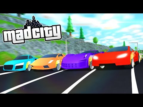 Racing Every Car In Mad City Roblox