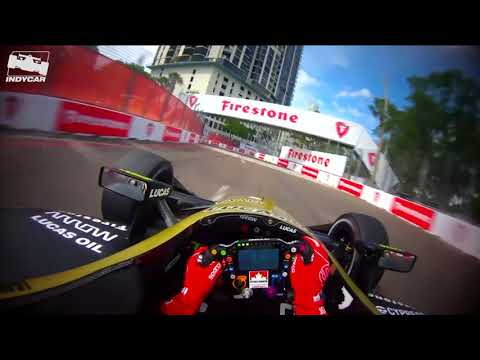 Visor Cam: James Hinchcliffe at St. Pete in 2019