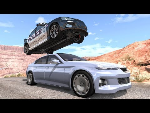 Crazy Police Chases #90 - BeamNG Drive Crashes