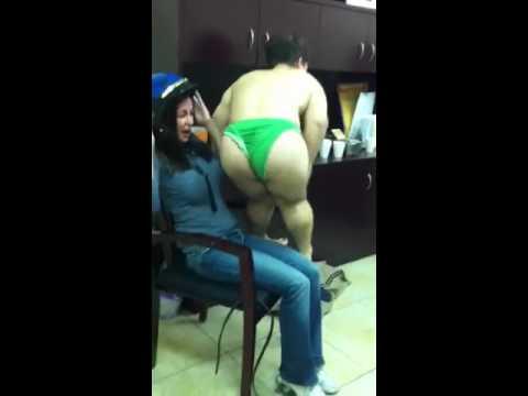 Midget Dancer making a girl gag. TOO FUNNY!!!!