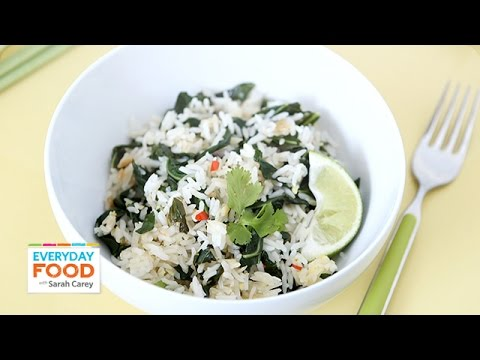 Fried Rice with Greens: Thai Fried Rice – Everyday Food with Sarah Carey