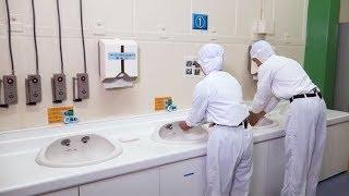 「キットカット」オンライン工場見学1.工場内の安全、衛生チョコレートタンク室