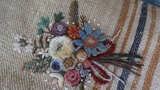 Embroidery Flowers Hemp Bag Part 1 │ How To DIY Craft Tutorial