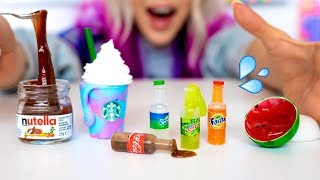 Making The SMALLEST Slime In The World! How To Make DIY Miniature Food Slime