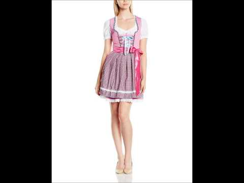 Stockerpoint Damen Mini Dirndl Kleid Schürze Luisa rosa pink