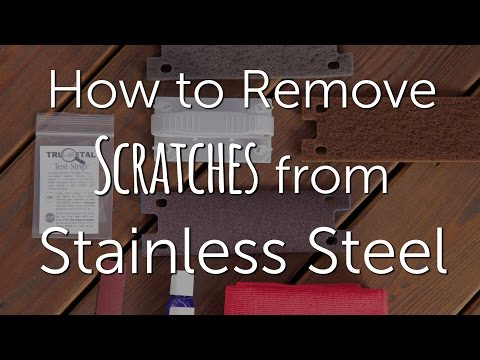 How to remove scratches from stainless steel - Scratch-Be-Gone