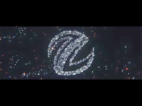 3 d логотип из частиц  интро заставка из частиц собираеться в текст