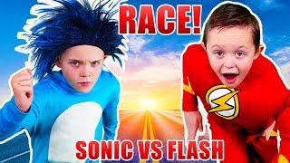 Sonic the Hedgehog VS the Flash! Race!
