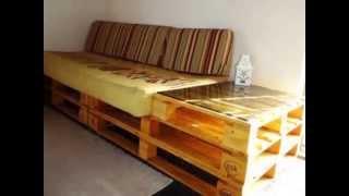 Como fazer móveis com paletes