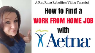 How to Find a Work from Home Job with Aetna