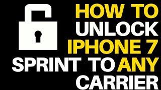 How to unlock sprint iphone 7