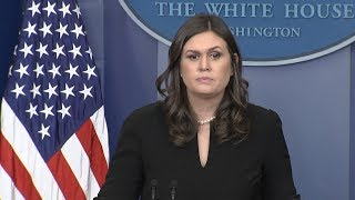 White House press briefing on Trump