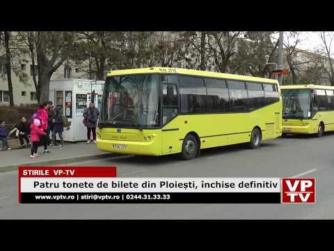 Patru tonete de bilete din Ploiești, închise definitiv
