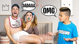 ACTING LIKE BABIES To See our SON'S REACTION! (Hilarious) | The Royalty Family