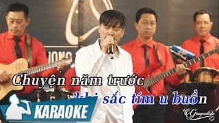 Karaoke Chuyện Người Con Gái Hái Sim Tone Nam - Quang Lập | Nhạc Vàng Bolero Karaoke