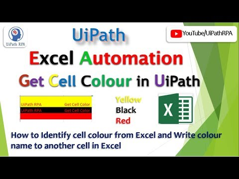 How to change color of cell of excel in UiPath - смотреть онлайн на
