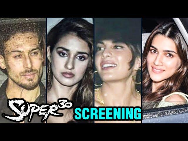 Jacqueline, Tiger Shroff, Disha Patani, Kriti Sanon | Super 30 Screening | Hrithik Roshan