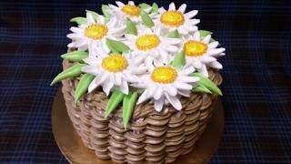 Торт ЛЕБЕДИНОЕ ОЗЕРО Шоколадный торт Мастер класс по цветку РОМАШКА Украшение торта