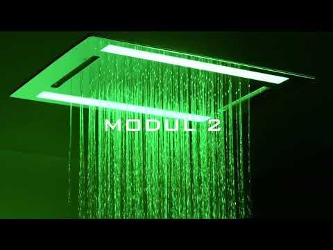 Regenwerk - Duschpaneele mit LED-Licht – Multifunktion