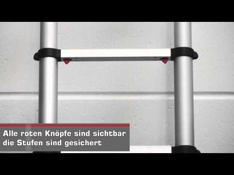 "Teleskop-Anlegeleiter ""Telestep""   -   LAYER-Grosshandel"