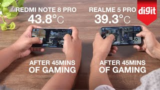 Tested! Redmi Note 8 Pro vs Realme 5 Pro Gaming and Heating Test