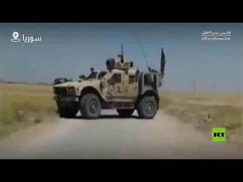 Suriye Ordusu ABD Konvoyunun Yolunu Kesti