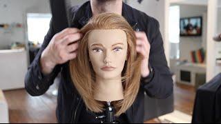 Long Layered Haircut Tutorial For Fine Hair   MATT BECK VLOG 35
