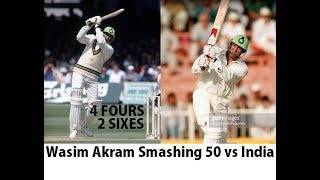 Wasim Akram Smashing 50 Runs (4x4 2x6   - YouTube