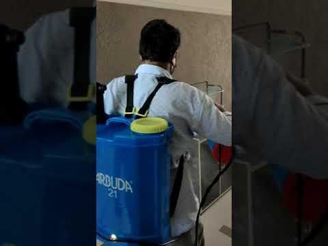 Battery operated sanitiser sprayer